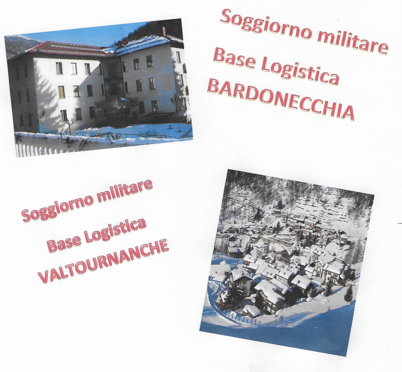 Lettera Comando Militare per soggiorno a Bardonecchia e ...