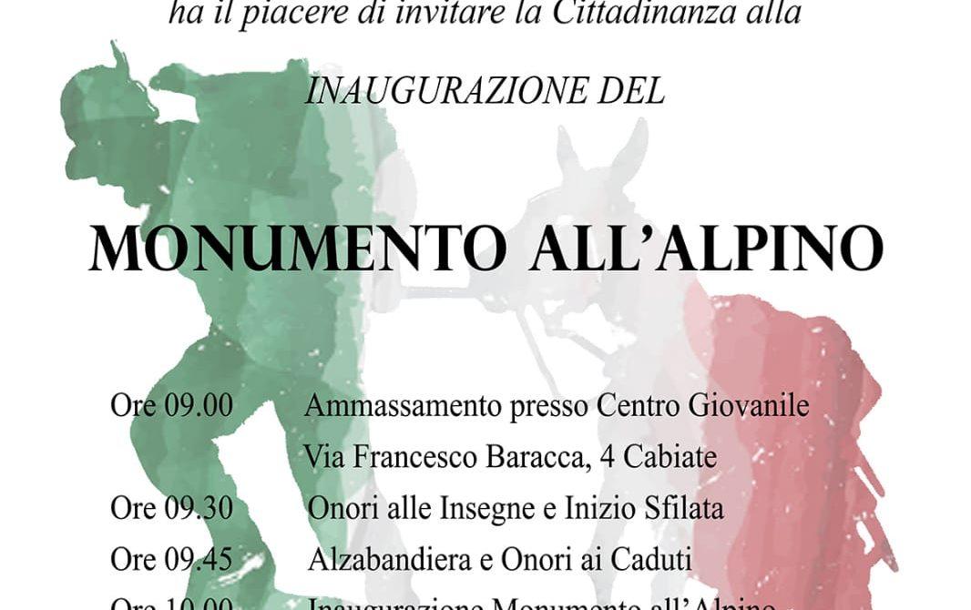 Manifesto Monumento Alpini Cabiate